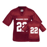 Youth Replica Maroon Football Jersey-#22