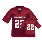 Youth Replica Maroon Football Jersey-#22