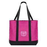 Tropical Pink/Dark Charcoal Day Tote-Bear Head
