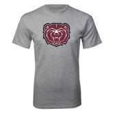 Grey T Shirt-Bear Head