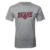 Grey T Shirt-Slanted Bears w/ Bear Head