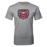 Grey T Shirt-Bear Head Distressed