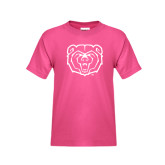 Youth Cyber Pink T Shirt-Bear Head