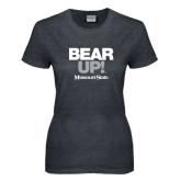Ladies Dark Heather T Shirt-Bear Up!