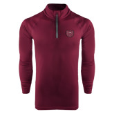 Under Armour Maroon Tech 1/4 Zip Performance Shirt-Bear Head