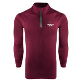 Under Armour Maroon Tech 1/4 Zip Performance Shirt-Bear Head Missouri State Stacked