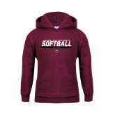 Youth Maroon Fleece Hoodie-Missouri State University Volleyball Stencil
