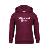 Youth Maroon Fleece Hoodie-Missouri State