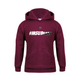 Youth Maroon Fleece Hoodie-#MSUBears