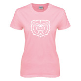 Ladies Pink T Shirt-Bear Head