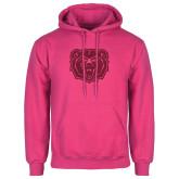 Fuchsia Fleece Hoodie-Bear Head Hot Pink Glitter