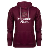Adidas Climawarm Maroon Team Issue Hoodie-Bear Head Missouri State Stacked