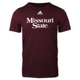 Adidas Maroon Logo T Shirt-Missouri State