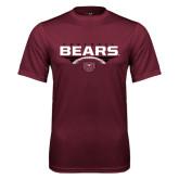 Performance Maroon Tee-Bears Football Stacked