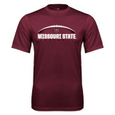 Performance Maroon Tee-Missouri State Football w/ Ball