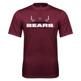 Performance Maroon Tee-Bears Football w/ Field