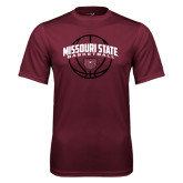 Performance Maroon Tee-Missouri State Basketball Arched w/ Ball