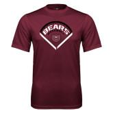 Performance Maroon Tee-Bears Baseball Arched in Diamond