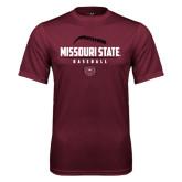 Performance Maroon Tee-Missouri State Baseball Stacked
