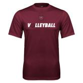 Performance Maroon Tee-Volleyball w/ Ball
