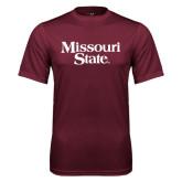 Performance Maroon Tee-Missouri State