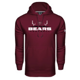 Under Armour Maroon Performance Sweats Team Hoodie-Bears Football w/ Field