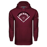 Under Armour Maroon Performance Sweats Team Hoodie-Bears Baseball Arched in Diamond