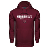 Under Armour Maroon Performance Sweats Team Hoodie-Missouri State Baseball Stacked