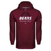 Under Armour Maroon Performance Sweats Team Hoodie-Bears Volleyball Stacked