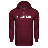 Under Armour Maroon Performance Sweats Team Hoodie-Volleyball w/ Ball