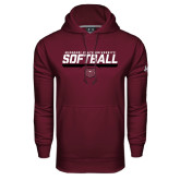 Under Armour Maroon Performance Sweats Team Hoodie-Missouri State University Volleyball Stencil