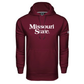 Under Armour Maroon Performance Sweats Team Hoodie-Missouri State