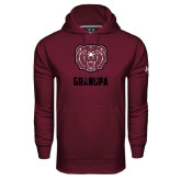Under Armour Maroon Performance Sweats Team Hoodie-Grandpa
