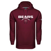 Under Armour Maroon Performance Sweats Team Hoodie-Bears Football Stacked