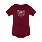 Maroon Infant Onesie-Bear Head