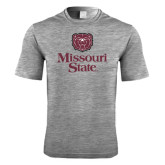 Performance Grey Heather Contender Tee-Bear Head Missouri State Stacked