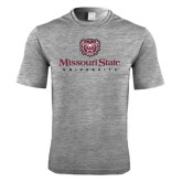 Performance Grey Heather Contender Tee-Missouri State University Stacked w/ Bear Head