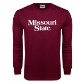 Maroon Long Sleeve T Shirt-Missouri State