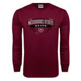 Maroon Long Sleeve T Shirt-Arched Missouri State Bears Shield