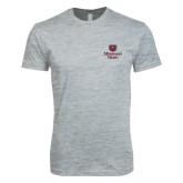 Next Level SoftStyle Heather Grey T Shirt-Bear Head Missouri State Stacked