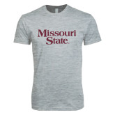 Next Level SoftStyle Heather Grey T Shirt-Missouri State