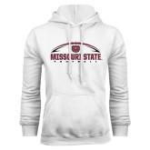 White Fleece Hoodie-Missouri State Football w/ Ball