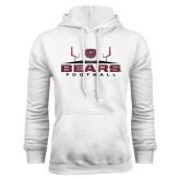 White Fleece Hoodie-Bears Football w/ Field