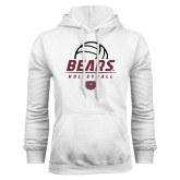 White Fleece Hoodie-Bears Volleyball Stacked