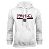 White Fleece Hoodie-Missouri State University Volleyball Stencil