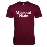 Next Level SoftStyle Maroon T Shirt-Missouri State