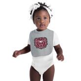 Grey Baby Bib-Bear Head
