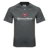 Under Armour Carbon Heather Tech Tee-Missouri State University Stacked w/ Bear Head