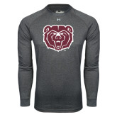 Under Armour Carbon Heather Long Sleeve Tech Tee-Bear Head