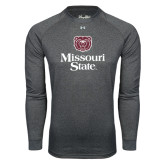 Under Armour Carbon Heather Long Sleeve Tech Tee-Bear Head Missouri State Stacked